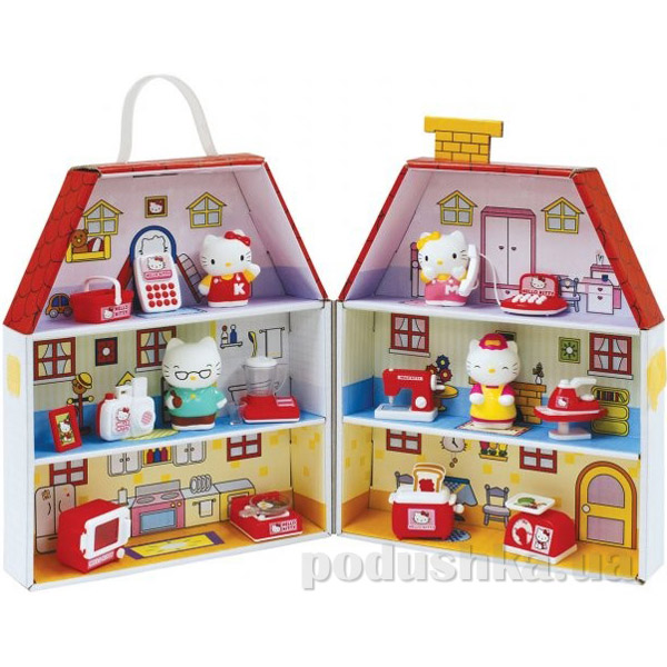 Игровой набор Картонный домик Китти 290272