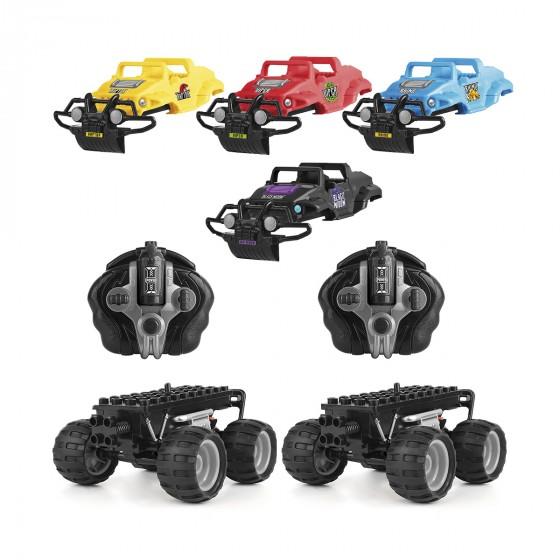 Игровой набор Monster Smash-Ups Crash Car на радиоуправлении Битва команд 2 модели, 4 корпуса, аккум. 4.8V TY6007 5031470219680