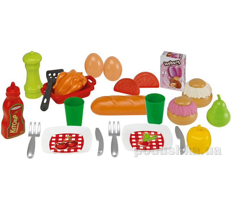 Игровой набор Пикник с посудой и продуктами Ecoiffier 000500