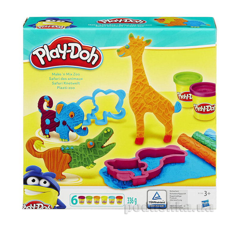 Игровой набор Веселое сафари Play-Doh Hasbro AKT-B1168