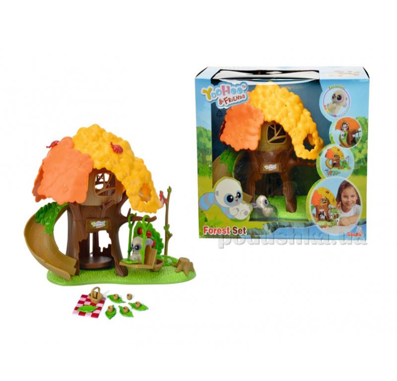 Игровой набор Юху Дом в лесу с горкой, качелями, лифтом, с 1 фигуркой Simba 595 5313