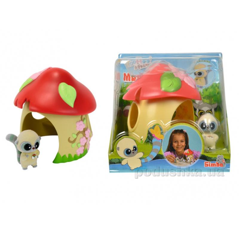 Игровой набор Юху Домик - грибочек с 1 фигуркой Simba 595 5307
