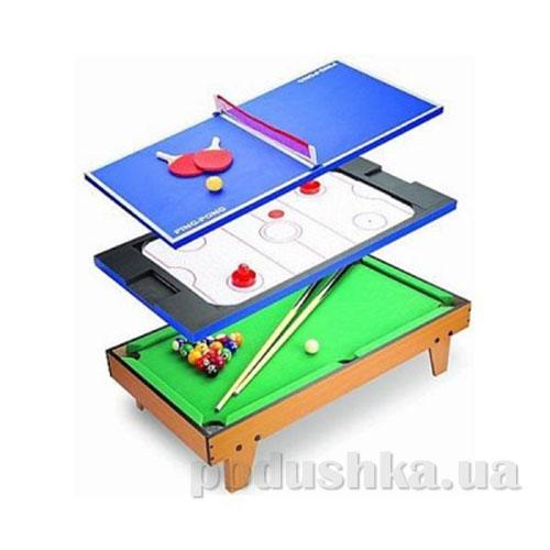 Игровой стол 3 в 1 бильярд теннис аэрохоккей MH82934 HG