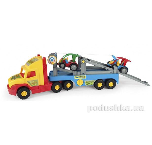 Игрушечная машинка Super Truck эвакуатор с авто-багги Wader 36630   Wader