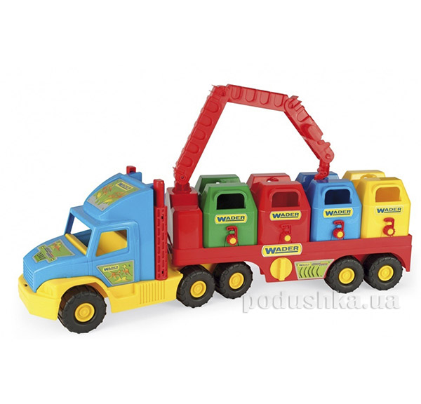 Игрушечная машинка Super Truck мусоровоз Wader 36530   Wader