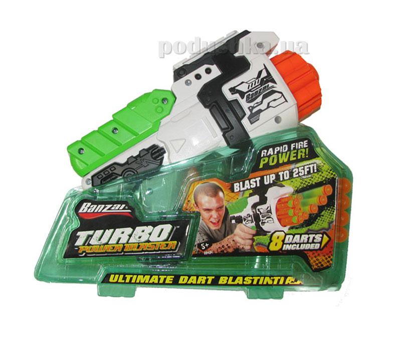 Игрушечный бластер Турбо Пауэр + 8 мягких дротиков