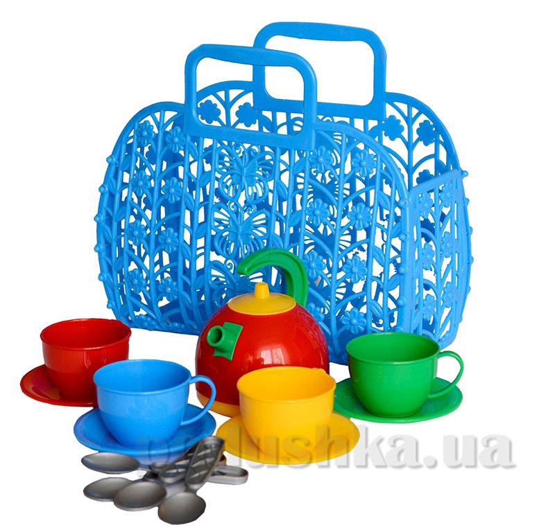 Игрушечный набор Корзинка с посудкой Технок 1608