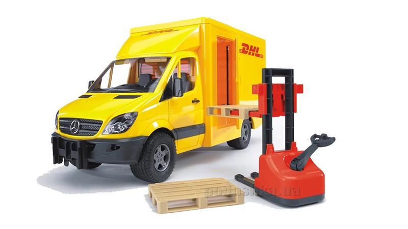 Игрушка - Bruder МВ Sprinter курьерская доставка грузов с погрузчиком