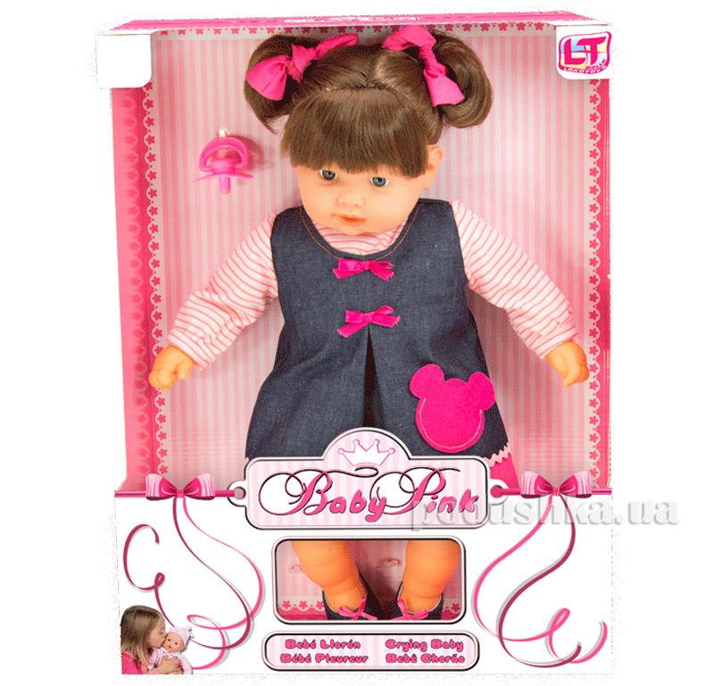 Игрушка Пупс в джинсовом сарафане и розовой кофточке 98221