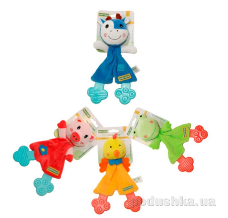 Игрушка с прорезывателем Baby Team AKT-8511 Хрюша, Коровка, Жабка, Цыпа