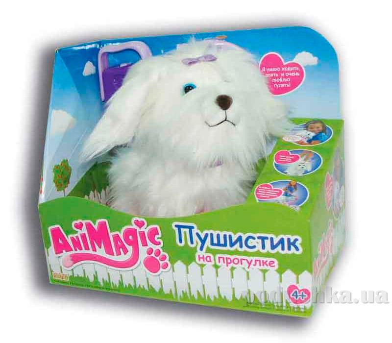 Интерактивная игрушка Пушистик на прогулке белый 30558 AniMagic