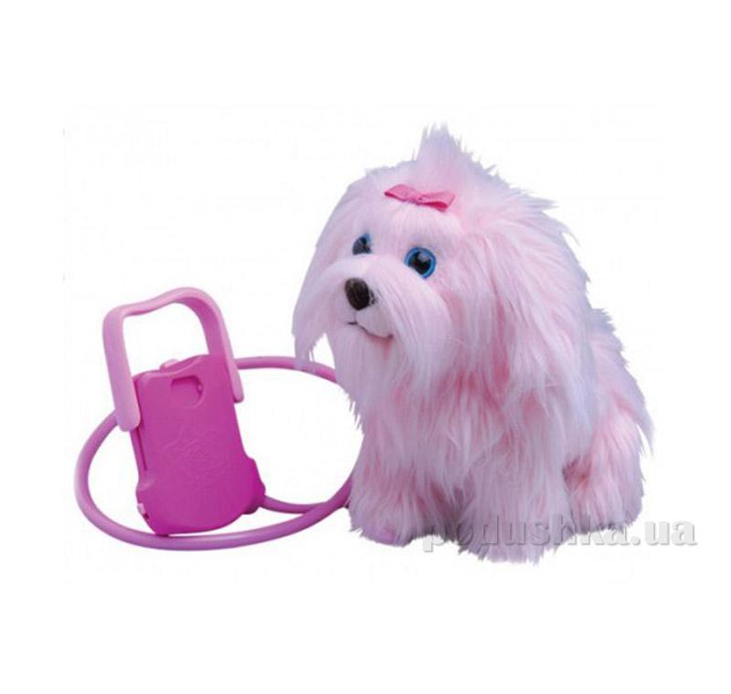 Интерактивная игрушка Пушистик на прогулке Розовый
