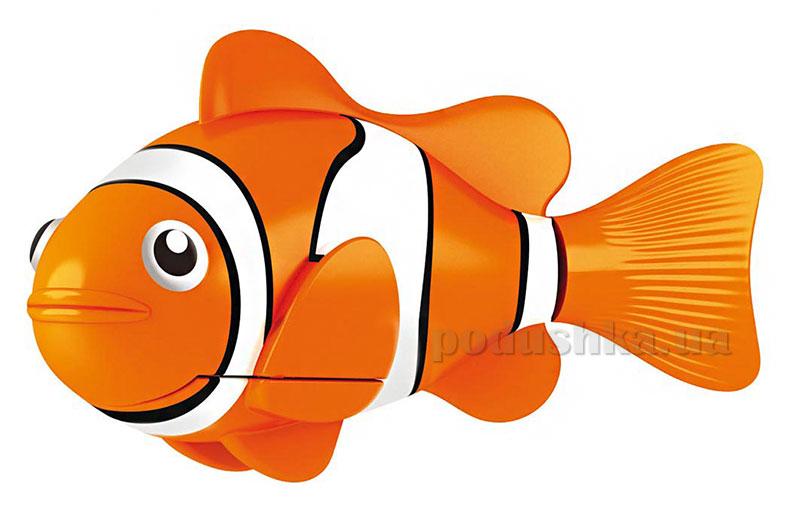 Интерактивная игрушка РобоРыбка - Рыба-Клоун оранжевая RoboFish 2501-4