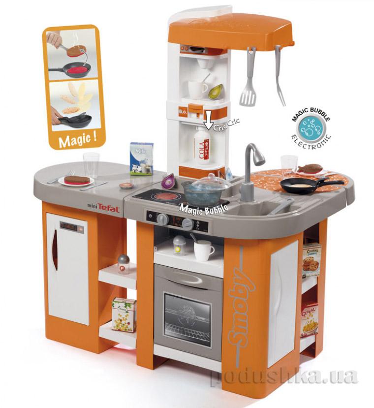 Интерактивная кухня Тефаль Студио большая с эффектом кипения оранжевая Smoby 311026