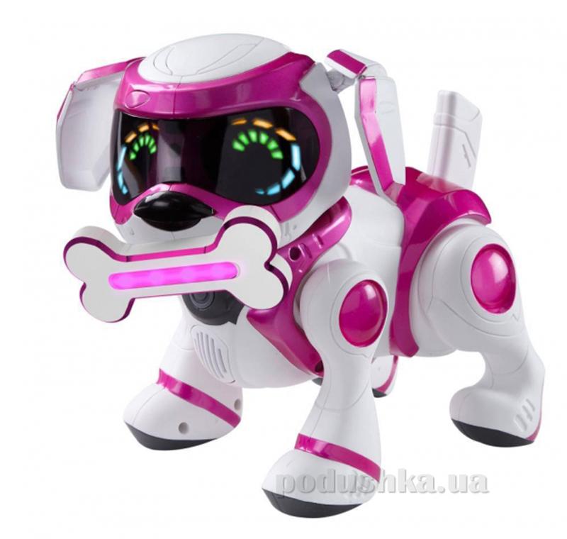 Интерактивный робот-щенок (белый с розовым)