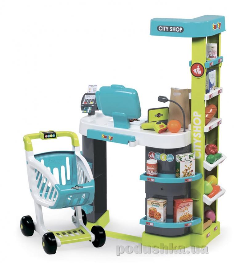 Интерактивный супермаркет City Shop с тележкой Smoby 350207