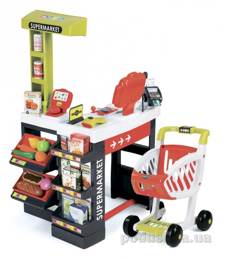 Интерактивный супермаркет с тележкой красный Smoby 350210