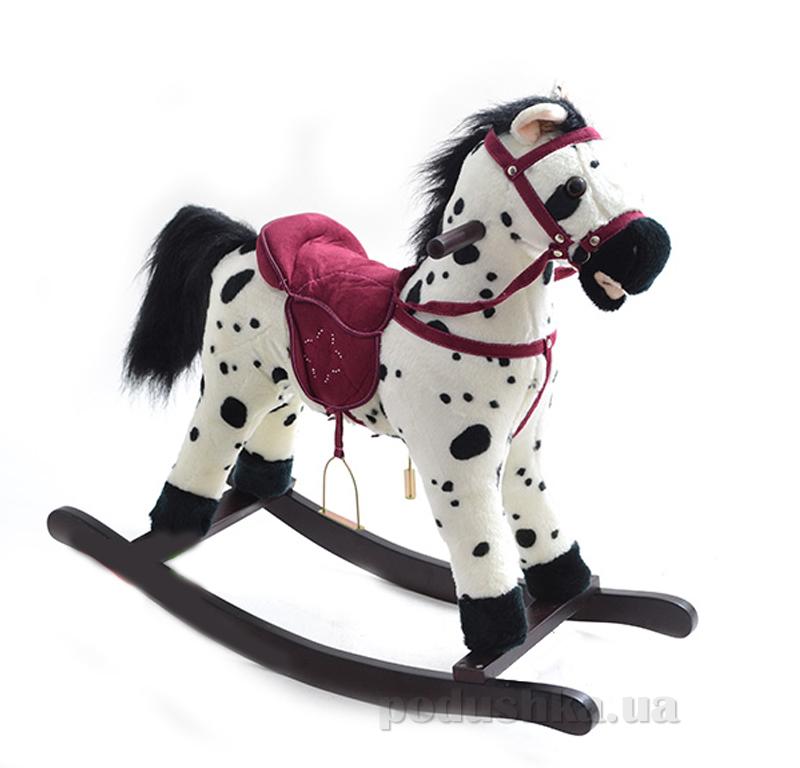 Качалка-лошадка Bambi MP 0668 Бело-черная