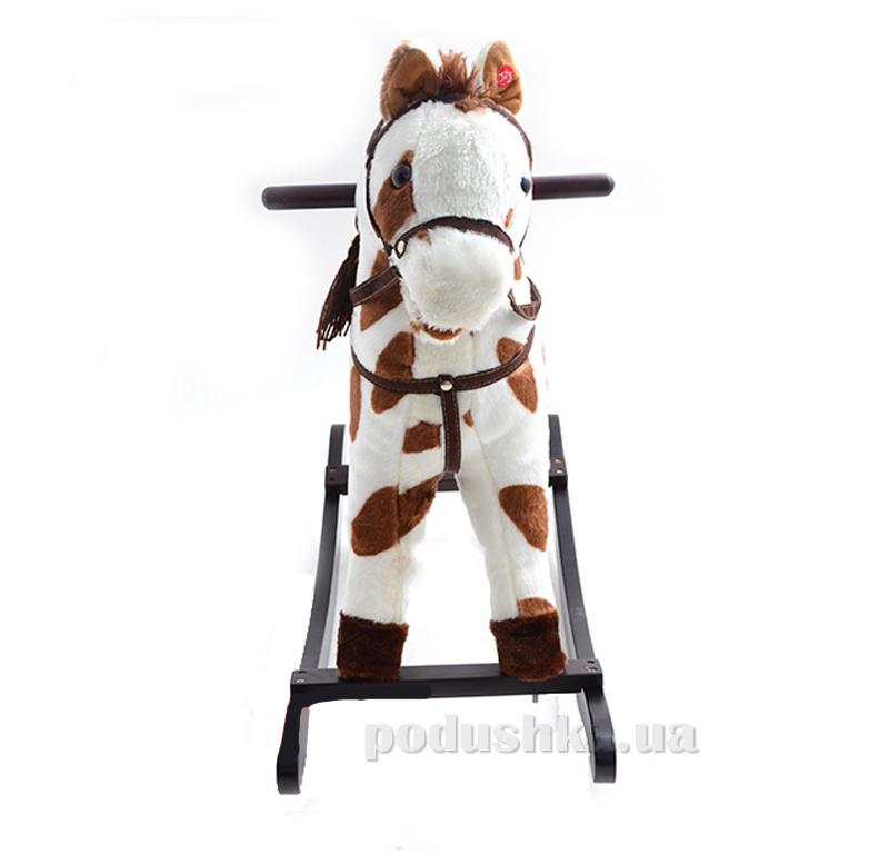 Качалка-лошадка Bambi MP 0668 Бело-коричневая