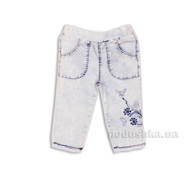 Капри джинсовые для девочки с вышивкой Gloria Jeans 39174