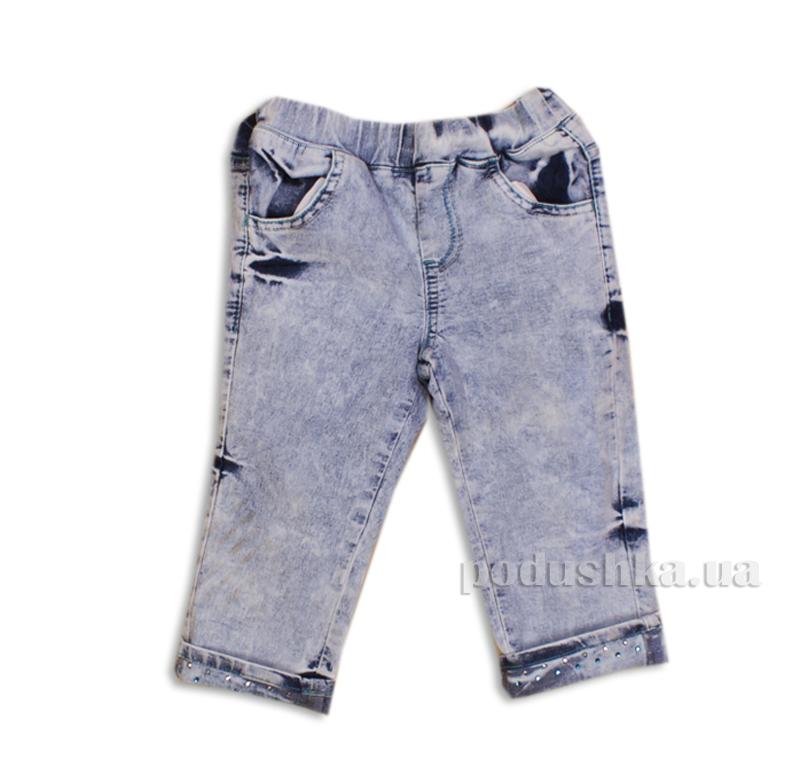 Капри джинсовые для девочки со стразами Gloria Jeans 39177