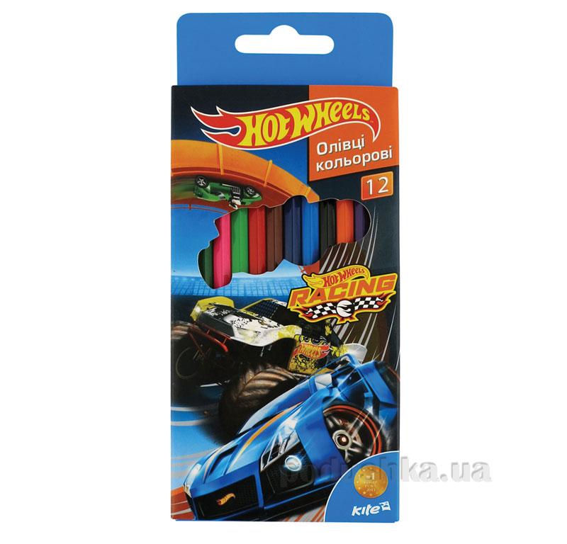Карандаши цветные 12 шт Kite Hot Wheels HW15-051K