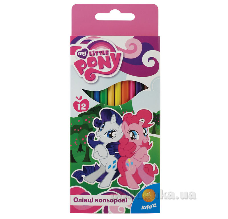 Карандаши цветные трехгранные 12 шт Kite Little Pony LP15-053K