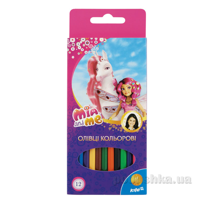 Карандаши цветные 12 шт Kite Mia and Me MM15-051K