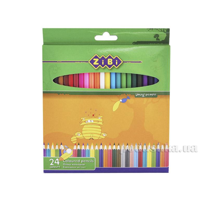 Карандаши цветные 24 цвета ZiBi ZB.2403