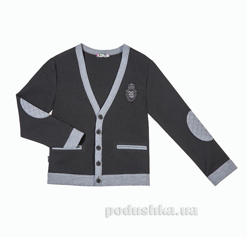 Кардиган Panda черный ПА-09130-13 с вышивкой