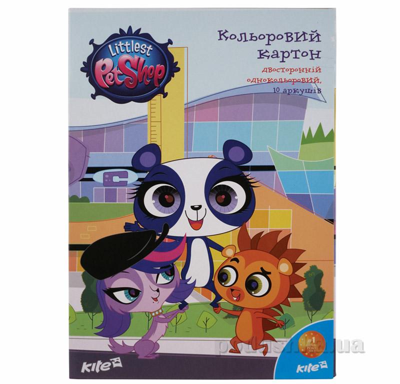 Картон двухсторонний цветной Kite Pet Shop PS15-255K