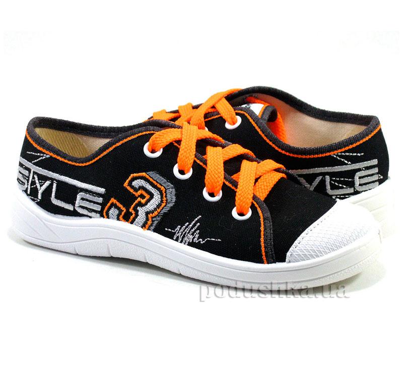 Кеды Waldi 51-415 черные с оранжевым