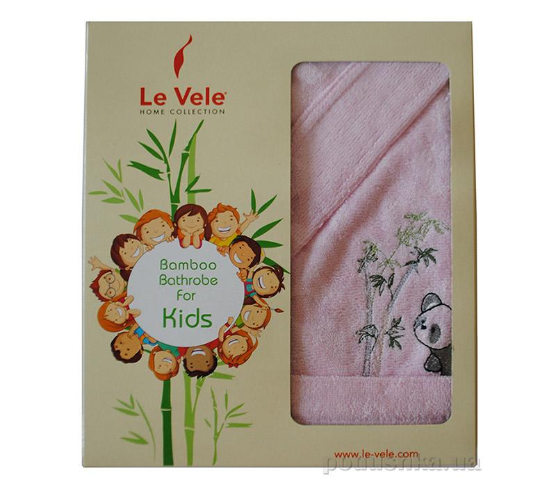 Халат детский Le Vele Bamboo Cotton Cocuk с вышивкой Панда 5-6 лет цвет - голубой (Blue) Le Vele