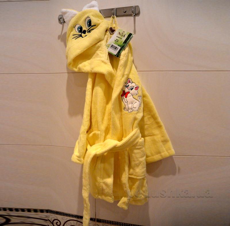 Халат детский Nusa Котик желтый