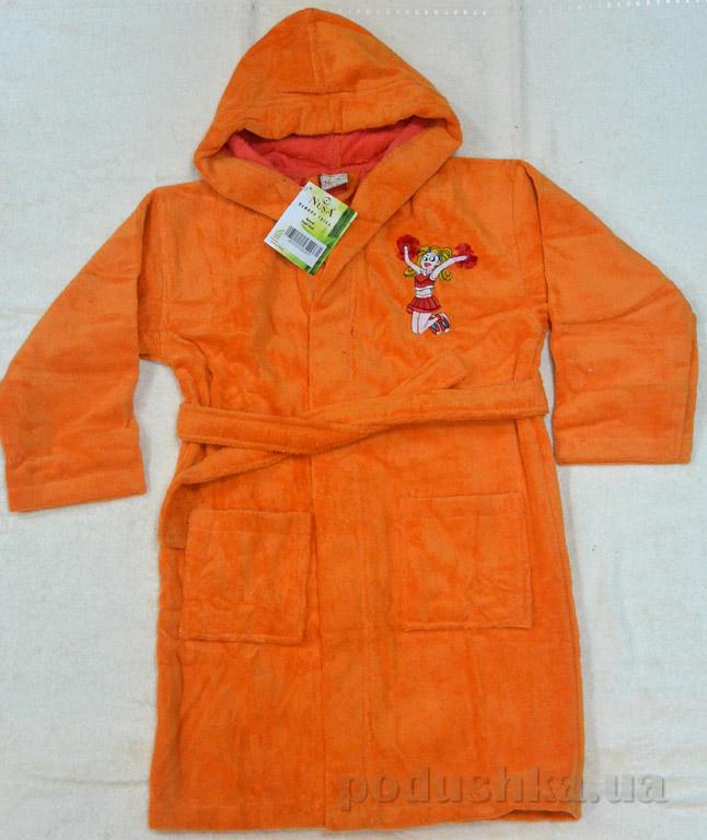 Халат детский Nusa Девочка оранжевый