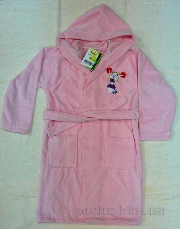Халат детский Nusa Девочка розовый