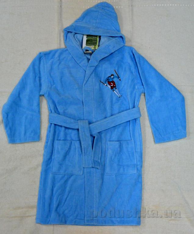 Халат детский Лыжник Nusa голубой