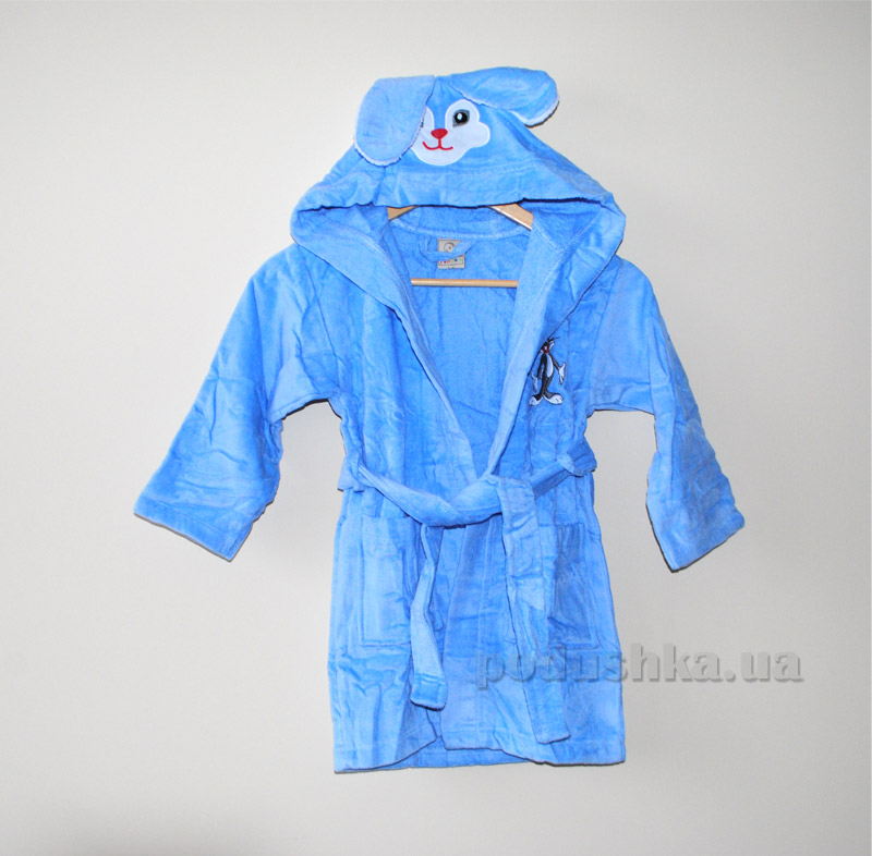 Халат детский Nusa Кролик голубой