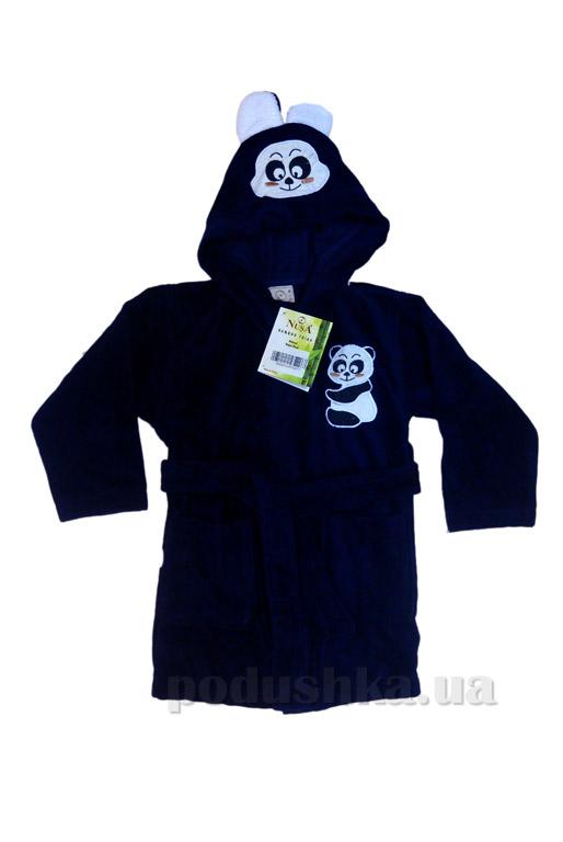 Халат детский Nusa Панда синий