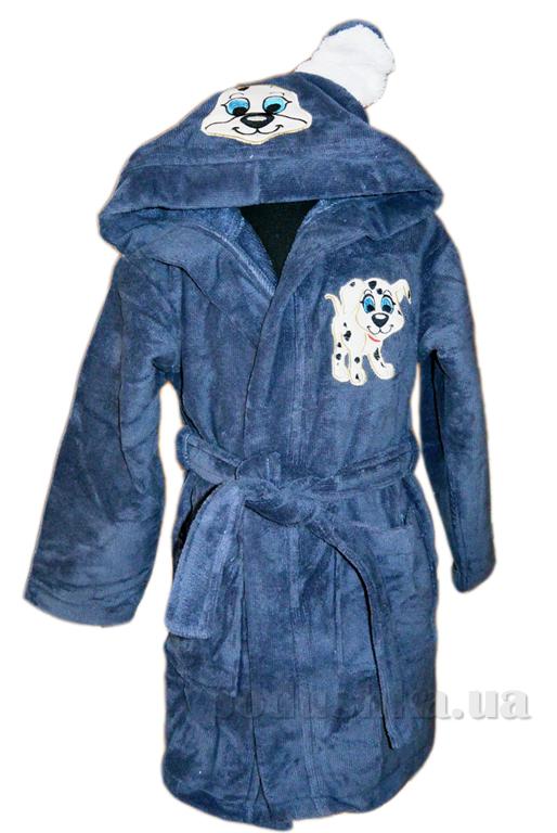Халат детский Nusa Песик серо-синий