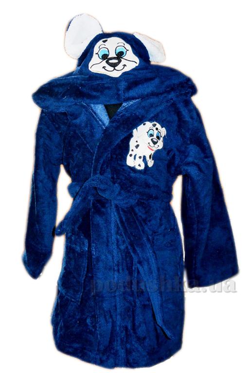 Халат детский Nusa Песик синий