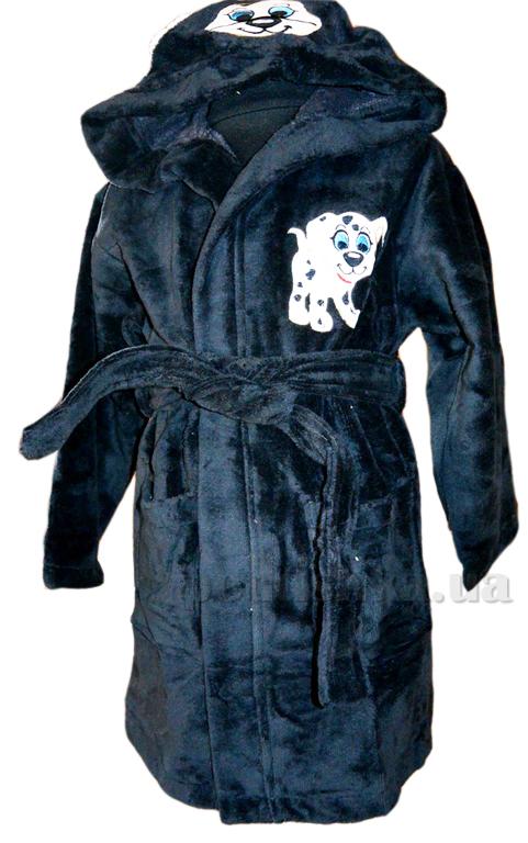 Халат детский Nusa Песик темно-серый