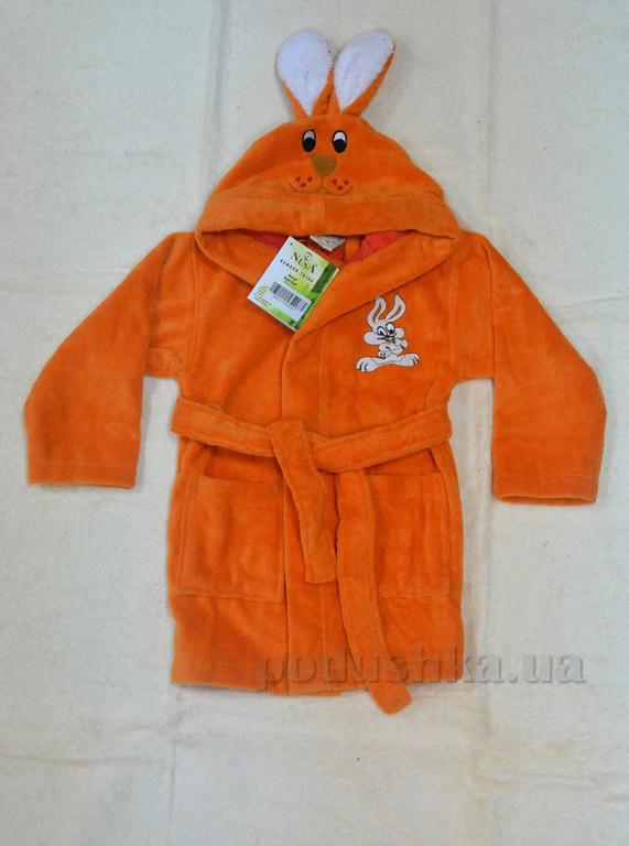 Халат детский Nusa Зайчик оранжевый