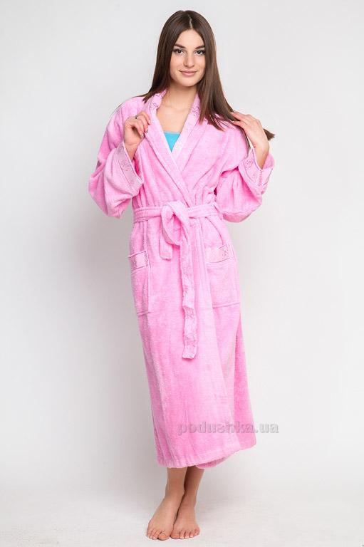 Халат махровый Бемби Home Line 82415 розовый