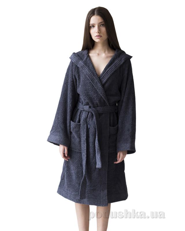 a8b550ced0e94 Халат махровый женский с капюшоном Sleeper Set Graphite Bath Robe ...