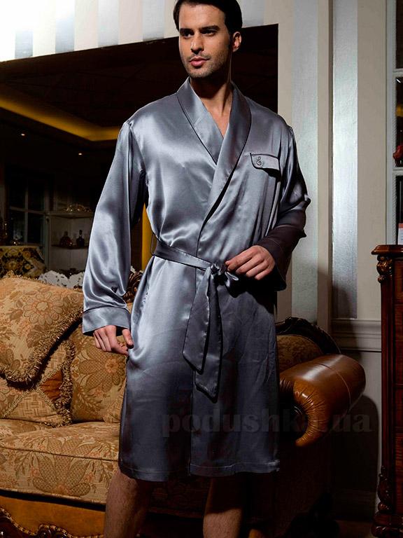Шелковый мужской халат Имате 25