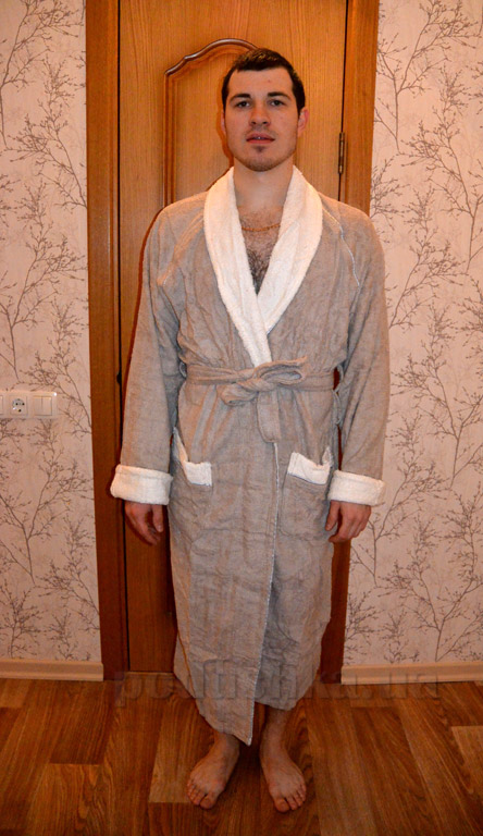 Халат унисекс длинный кимоно Mariposa Кофе XL  Mariposa