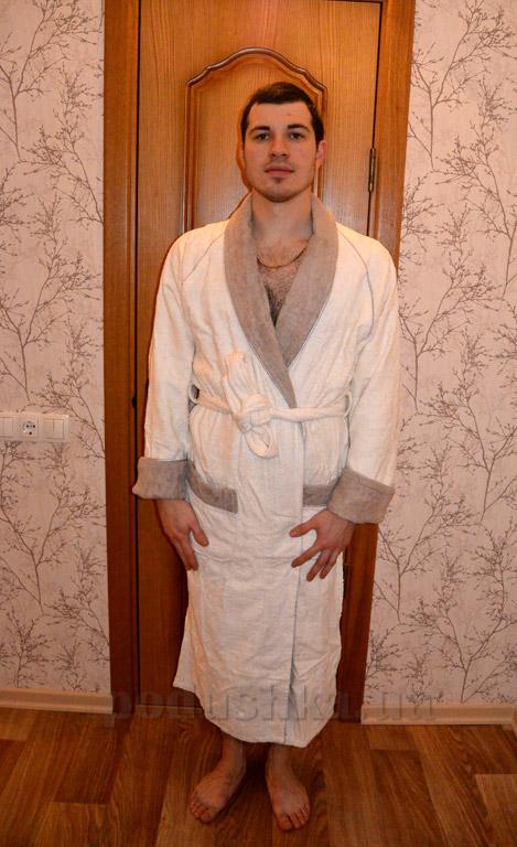 Халат унисекс длинный кимоно Mariposa Крем
