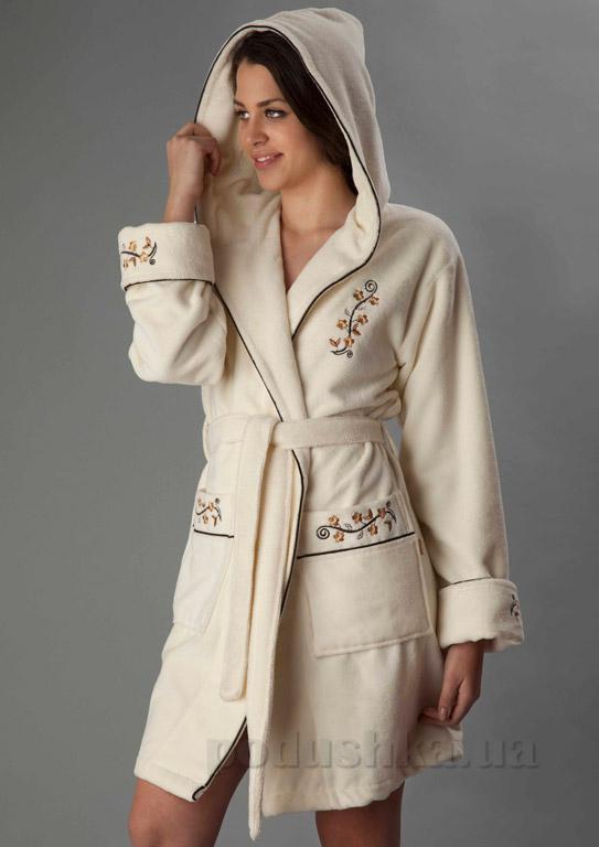 Халат женский короткий с капюшоном Nusa NS-00625-1