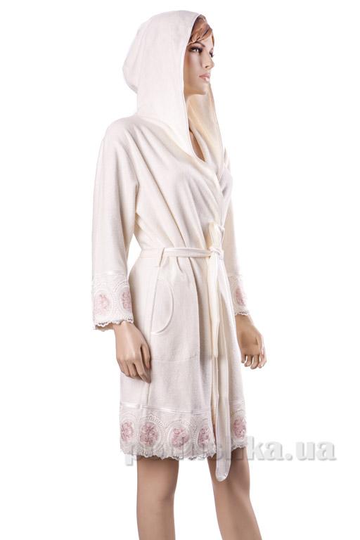 Халат женский короткий с капюшоном Nusa NS-3680